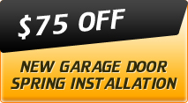 $75 off new garage door spring installation
